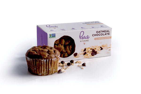 Oatmeal Chocolate Mini Muffins - PEACE A' CAKE