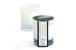 2 oz Poured Glass Votive Italian Bergamot/Persian Lime Coconut Wax w/real essential oils