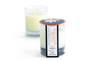 2 oz Poured Glass Votive Mandarin Orange/Lemongrass Coconut Wax w/real essential oils