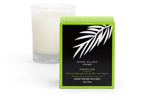 6 oz Gift Box Glass Candle Italian Bergamot/Persian Lime Coconut Wax w/real essential oils