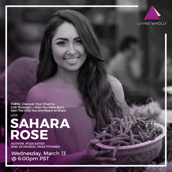 Sahara Rose Virtual Speaker Series Recorded Webinar