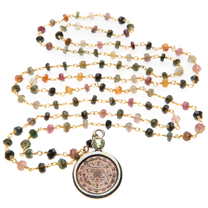Tourmaline Sri Yantra Necklace