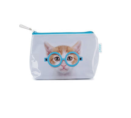 Glasses Cat Makeup Bag