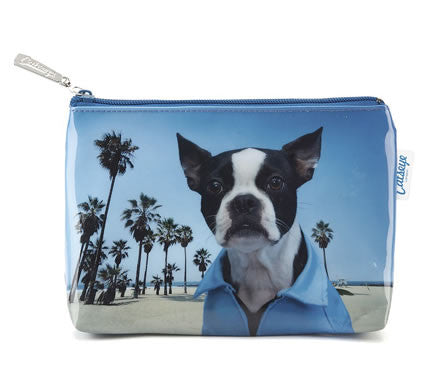 Beach Selfie Dog Makeup Bag