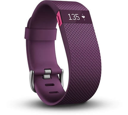 Fitbit - Charge HR Heart Rate and Activity Tracker + Sleep Wristband