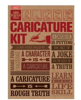 Turn Off The TV Make Your Own Caricature Kit Activity Set Guide Book