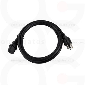 Standard AC Power PC/Monitor Cord, 14AWG, 15A 125V, NEMA5-15P/C13 Connector Cable, Black, 10 feet