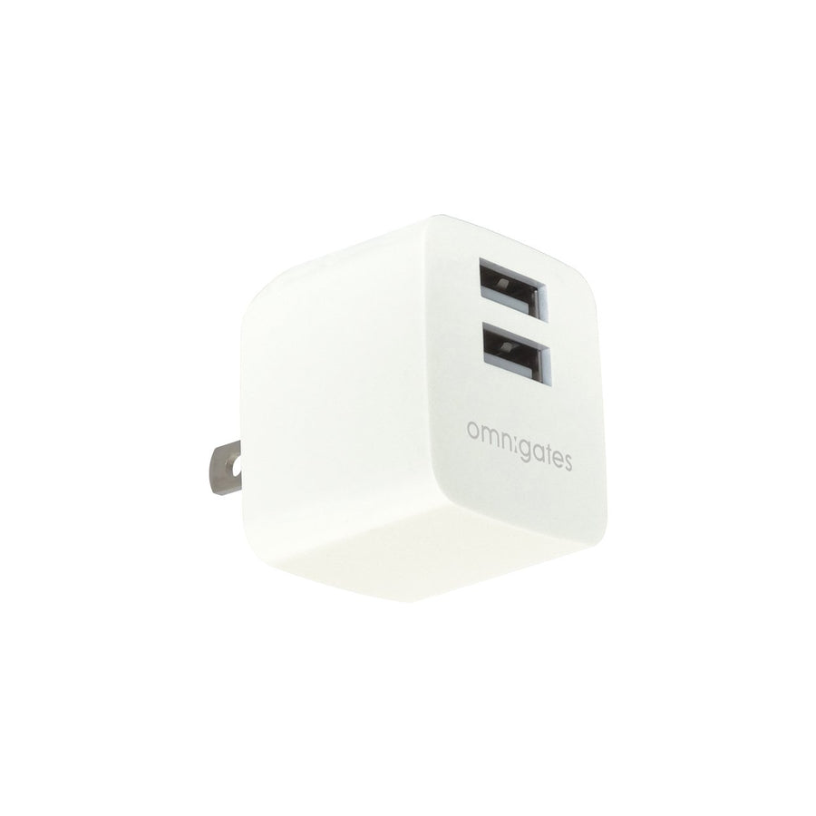 Omnigates Mach 2-Port 10.5W Wall Outlet Charger, UL listed