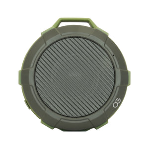 Top view of green and gray Omnigates Aeon Bluetooth Speaker POD