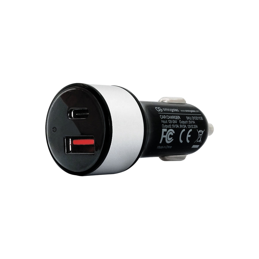 Omnigates 2-Port Car Charger with Type-C [32W]