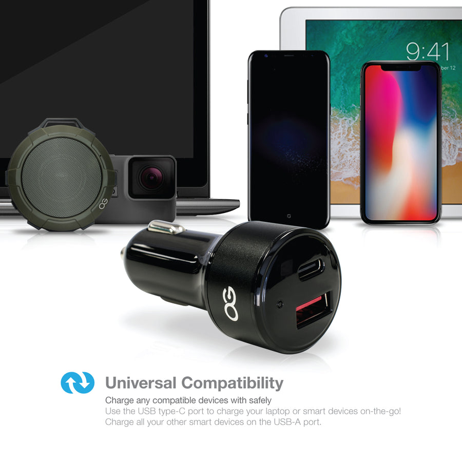 Omnigates 2-port car charger [2Pack bundle]