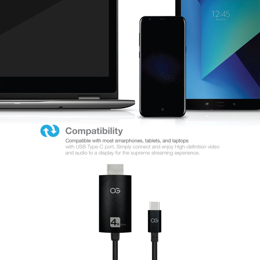 Omnigates USB C to HDMI Cable (4K@60Hz)