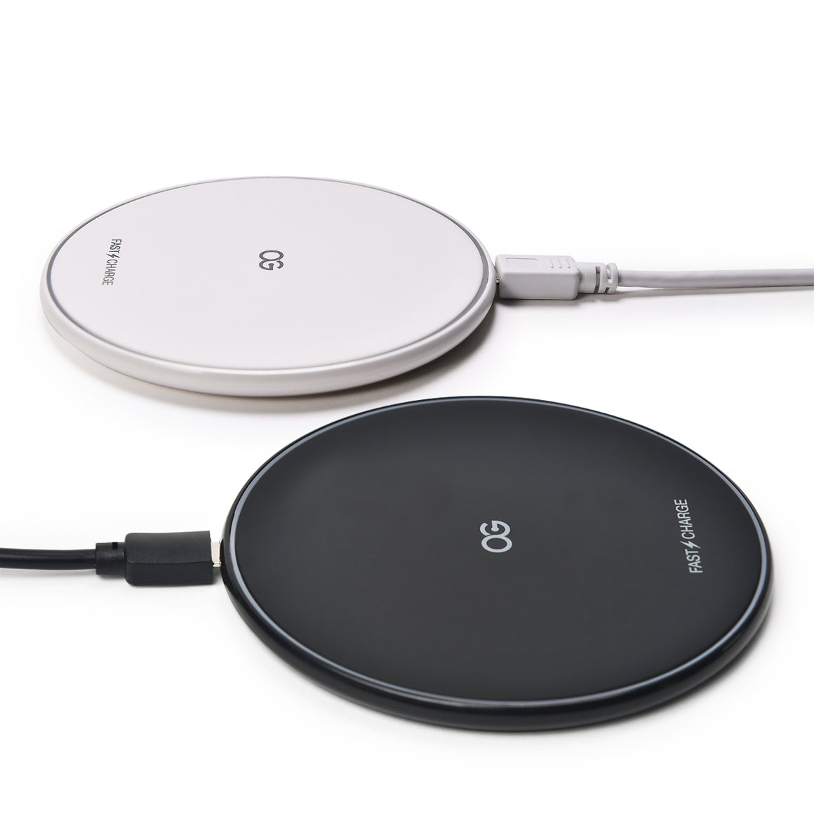 [2Pack] Fast Wireless Charging Pad, Black and White