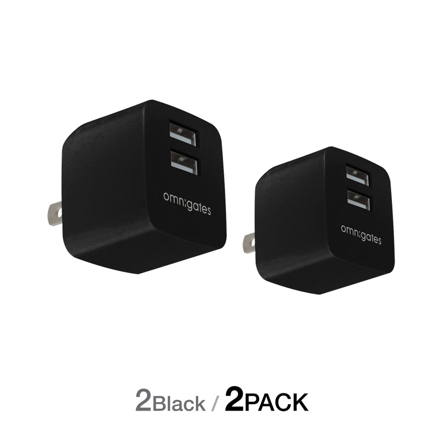 Omnigates Mach 2-Port 10.5W Wall Outlet Charger[UL listed] (2 Pack) - omnigates.com
