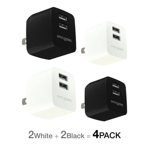 Omnigates Mach 2-Port 10.5W Wall Outlet Charger[UL listed] (4 Pack) - omnigates.com