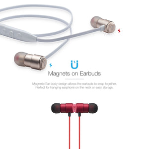 OG-MobiFren Holeic Hi-Fi Quality Stereo Sound with Metal Ear Body Bluetooth Earphone with Mobile App