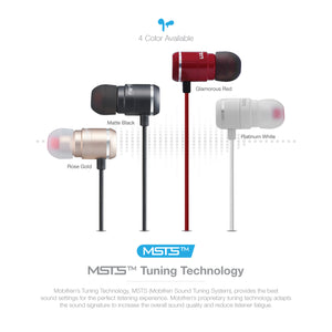 OG-MobiFren Premium Stereo Sound with Metal Ear Body Bluetooth Earphone with Mobile App