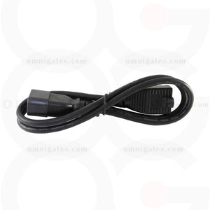 Black 3 feet AC Power Adapter Cable, 18AWG, NEMA5-15R/C14