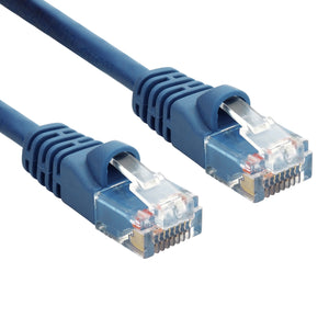 Blue RJ45 CAT 5e Ethernet Network Patch Cable 350MHz Gold Plated UTP