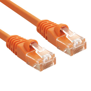 Orange RJ45 CAT 5e Ethernet Network Patch Cable 350MHz Gold Plated UTP