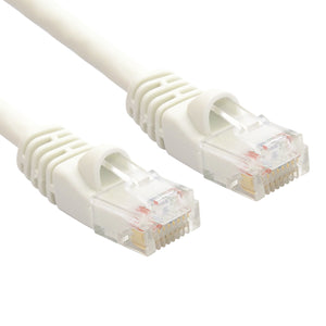 White RJ45 CAT 5e Ethernet Network Patch Cable 350MHz Gold Plated UTP