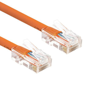 Non Booted RJ45 Cat6 Ethernet Network Patch Cable Gold Plated UTP(25-100ft)