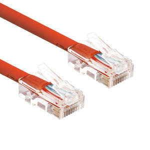 Non Booted RJ45 Cat6 Ethernet Network Patch Cable Gold Plated UTP(1-14ft)