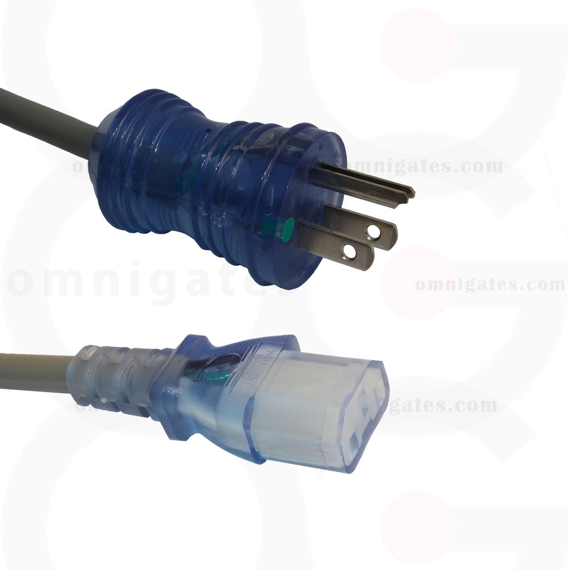 Hospital Grade Cable 18AWG NEMA 5-15P to C13 male