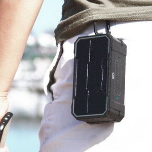 Omnigates Aeon Bluetooth Speaker BOOMbox being carried outside