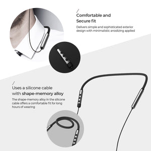OG-MobiFren Flex-L Wireless Bluetooth Headset Shape-Memory Alloy LDAC apt-X Premium Sound Earphones