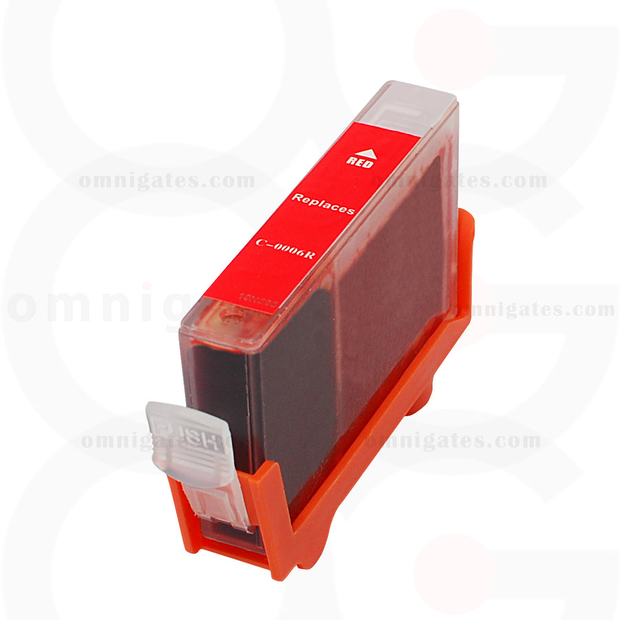 Red OGP Remanufactured Canon BCI-6R Inkjet Cartridge
