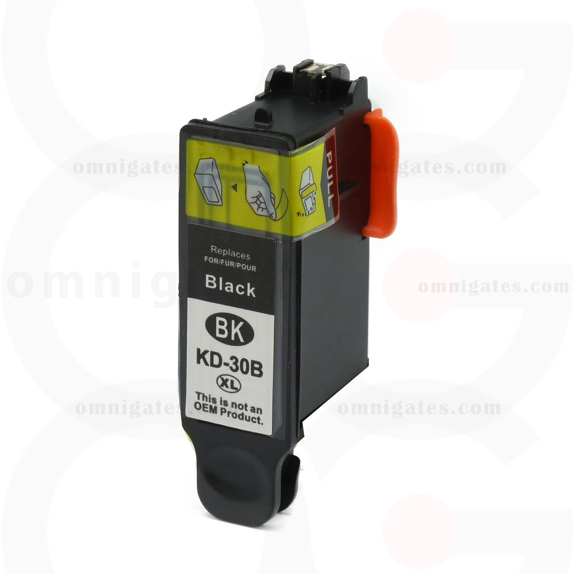 Front view of black OGP Compatible Kodak 1550532 Inkjet Cartridge