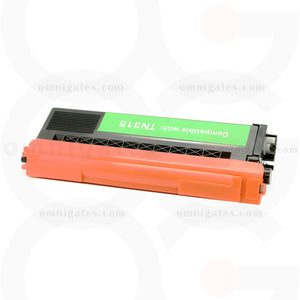 Front view of cyan OGP Compatible Brother TN315C Laser Toner Cartridge