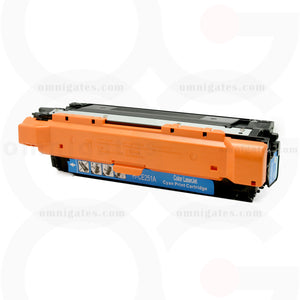 front view of cyan OGP Compatible HP CE251A Laser Toner Cartridge