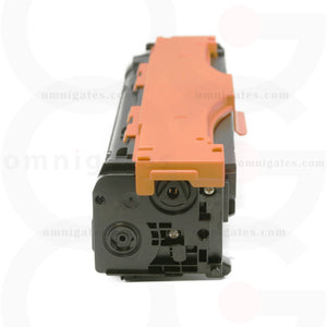 side view of cyan OGP Compatible HP CE411AC Laser Toner Cartridge