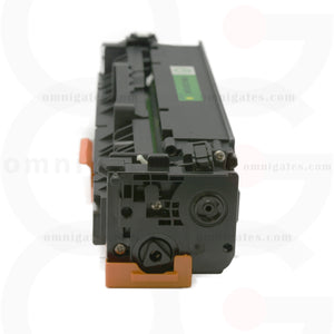 side view of yellow OGP Compatible HP CE412AY Laser Toner Cartridge