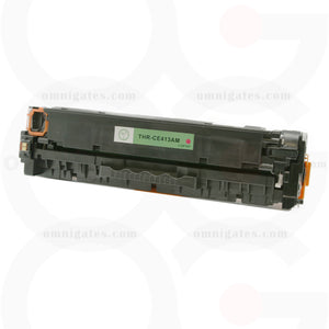 front view of magenta OGP Compatible HP CE413AM Laser Toner Cartridge