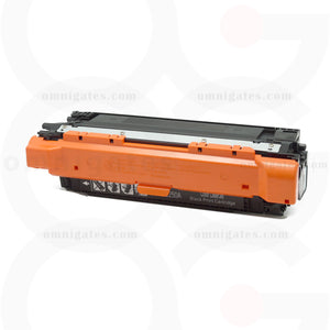 front view of black OGP Remanufactured HP CE250A Laser Toner Cartridge
