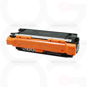front view of black OGP Remanufactured HP CE260A Laser Toner Cartridge