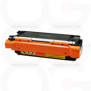 front view of yellow OGP Remanufactured HP CE262A Laser Toner Cartridge