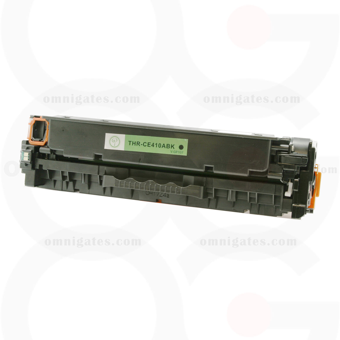 front view of black OGP Remanufactured HP CE410A Laser Toner Cartridge