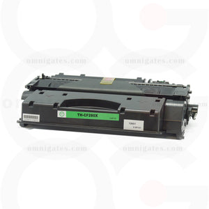 front view of black OGP Compatible HP CF280X Laser Toner Cartridge