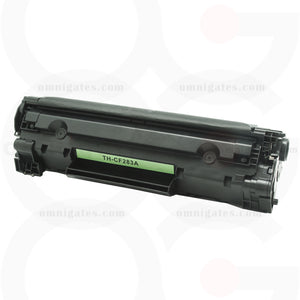 front view of black OGP Compatible HP CF283A Laser Toner Cartridge