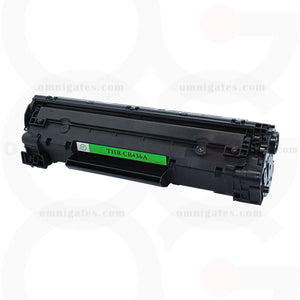 black OGP Remanufactured HP CB436A Laser Toner Cartridge