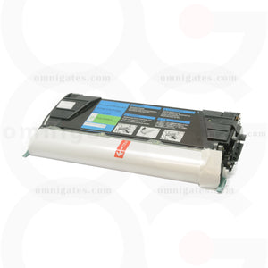 front view of cyan OGP Remanufactured Lexmark C5220CS Laser Toner Cartridge