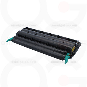 Front view of black OGP Remanufactured Lexmark C5220KS Laser Toner Cartridge
