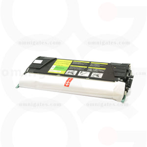 front view of yellow OGP Remanufactured Lexmark C5220YS Laser Toner Cartridge