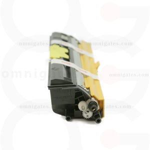 side view of yellow OGP Remanufactured Minolta A0V306F (Q1600Y) Laser Toner Cartridge
