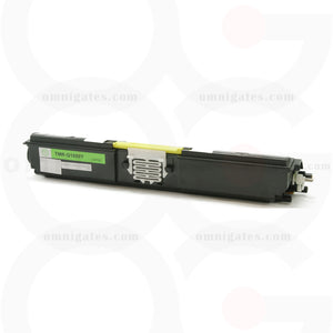 front view of yellow OGP Remanufactured Minolta A0V306F (Q1600Y) Laser Toner Cartridge