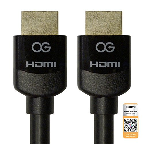 Certified Premium HDMI® Cable with Ethernet, 6ft, 2 Pack Bundle